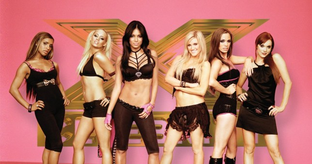 Pussycat Dolls on X Factor logo