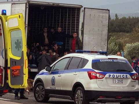 Police find 41 migrants alive in refrigerated lorry in Greece