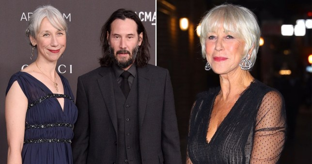 Keanu Reeves, Alexandra Grant and Helen Mirren