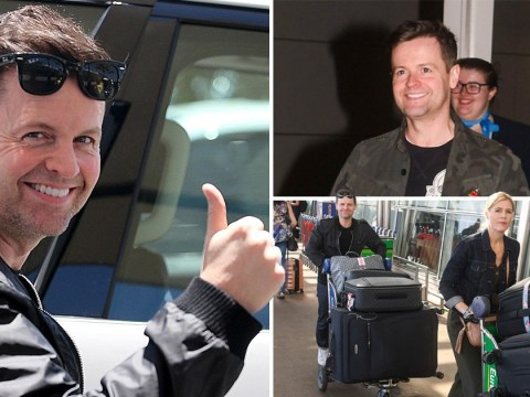 Declan Donnelly and wife Ali Astall touch down in Australia one week before I'm A Celebrity launch