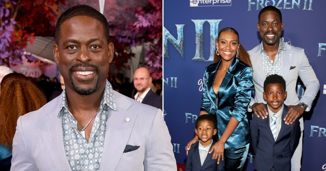 Sterling K. Brown, Ryan Michelle Bathe and their two children Andrew Jason Sterling Brown and Amare Michael Ryan Christian Brown