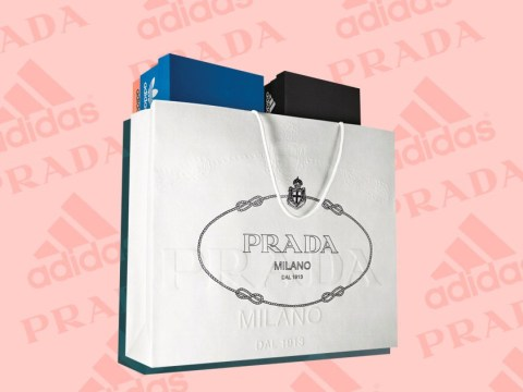 Prada and Adidas are collaborating for the first time