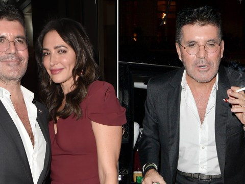 Simon Cowell lets hair down with girlfriend Lauren Silverman at swanky Shooting Star Ball