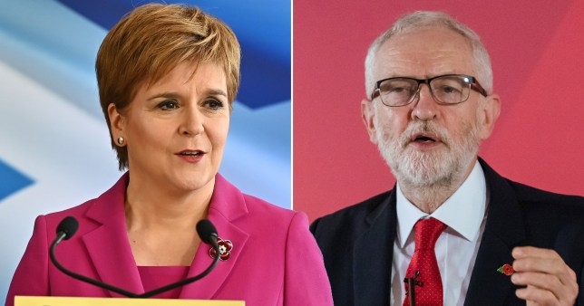Scotland's First Minister will back a Labour minority if Jeremy Corbyn agrees to a second independence referendum