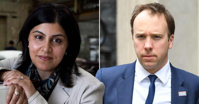 Health secretary Matt Hancock suggested Muslim peer Baroness Warsi didn't have a balanced approach to Islamophobia (Picture: Getty)