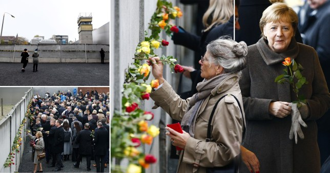 Germans mark the 30th anniversary of the fall of the Berlin Wall (Picture: Getty)