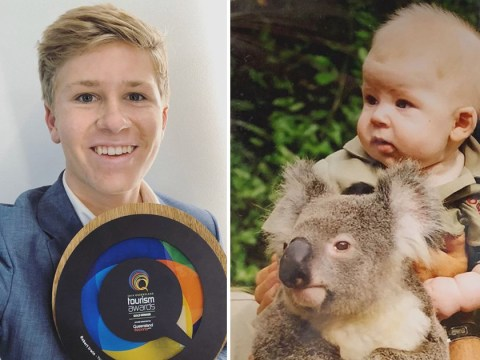 Robert Irwin follows in late father Steve's footsteps as he's honoured with tourism award