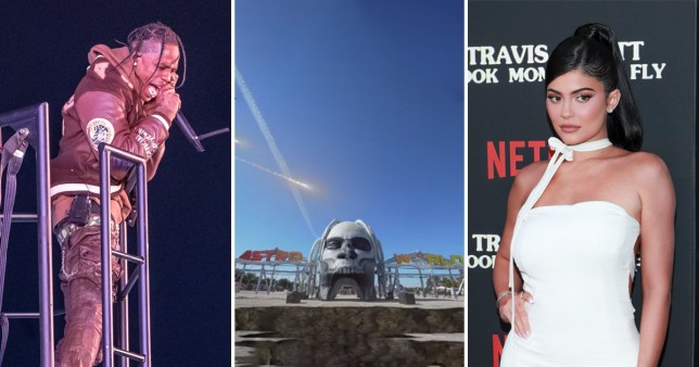 Kylie Jenner attends Astroworld festival