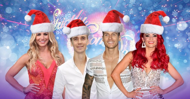 Caption: Strictly Christmas Couples Credit: PA