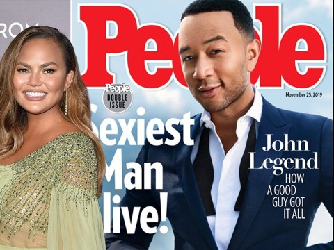 Chrissy Teigen fulfils her dream of 'boning Sexiest Man Alive' as John Legend honoured with People title