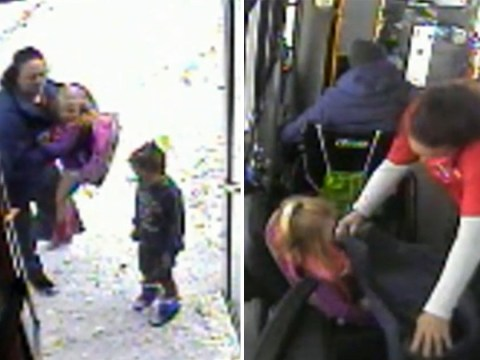 Hero bus driver stops to save kids with bare legs and no coats in -8C weather
