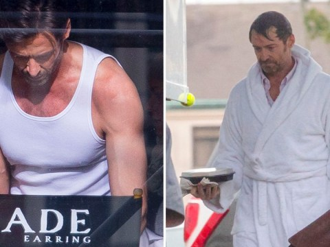 Hugh Jackman rocks the robe look after filming terrifying eel scene for new movie Reminiscence