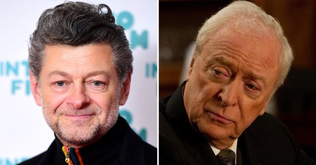 Andy Serkis and Michael Caine