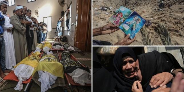 An Israeli airstrike has killed eight members of the same family