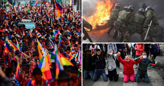 Images of unrest in Bolivia as five people killed