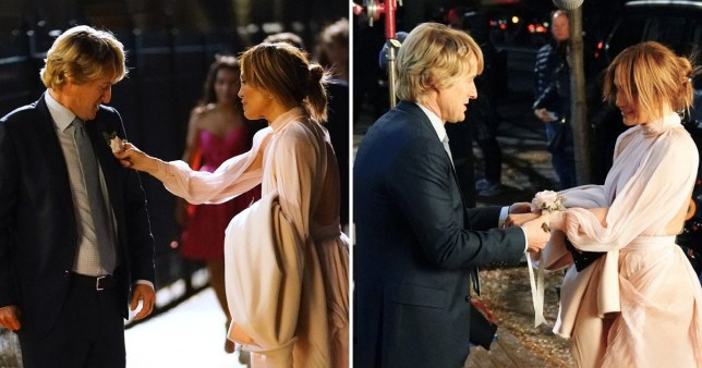 Jennifer Lopez and Owen Wilson dapper as they film Marry Me