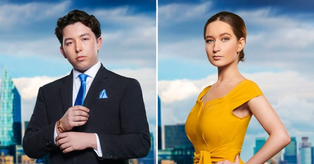Ryan-Mark Parsons and Lottie Lion from The Apprentice