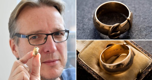 A golden ring given as a gift by Oscar Wilde has recovered by an art detective nearly 20 years after it was stolen from Oxford University (Picture: AFP)