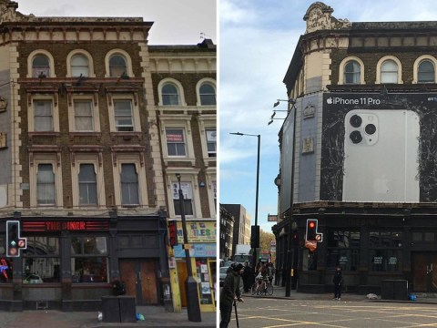 Landlord blocks out tenants' windows with huge 'illegal' iPhone advert