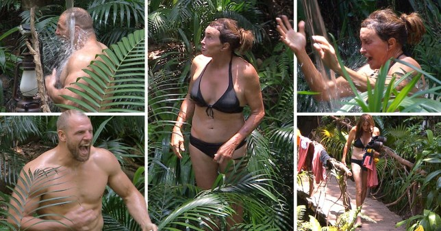 I'm A Celebrity's Caitlyn Jenner and James Haskell reacting to freezing shower water is comedy gold