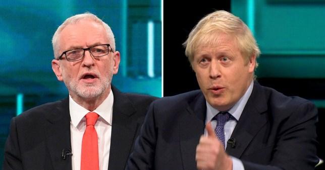 Jeremy Corbyn and Boris Johnson in the ITV leaders' debate