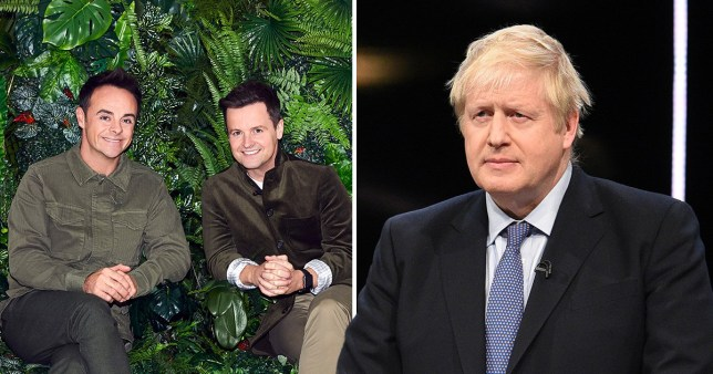 Ant and Dec on I'm A Celeb with Boris Johnson