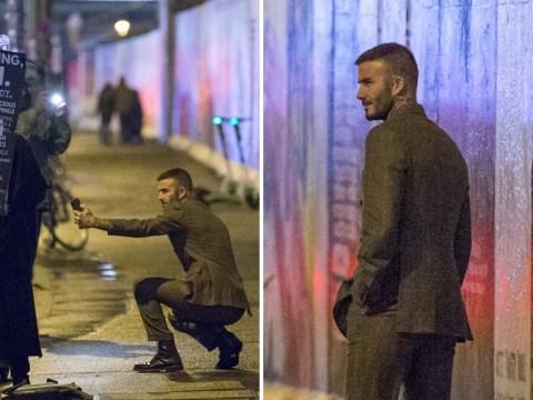 David Beckham on full tourist mode as he gets selfie at Berlin Wall