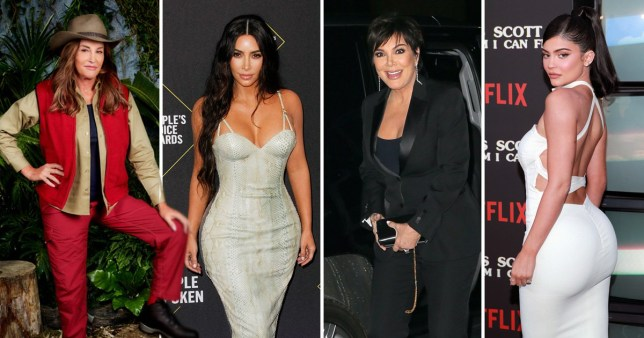 What are the net worths of the Kardashian and Jenner families?