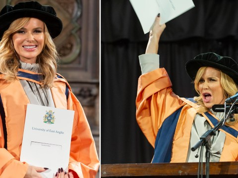 The Dr will see you now! Britain's Got Talent judge Amanda Holden gets honorary doctorate for contribution to the arts