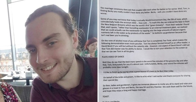 Man wants to reunite a best man with the wedding speech he left in a secondhand book