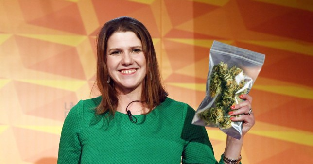 Jo Swinson has admitted to smoking cannabis after her party announced plans to legalised the drug (Picture: EPA/Getty)