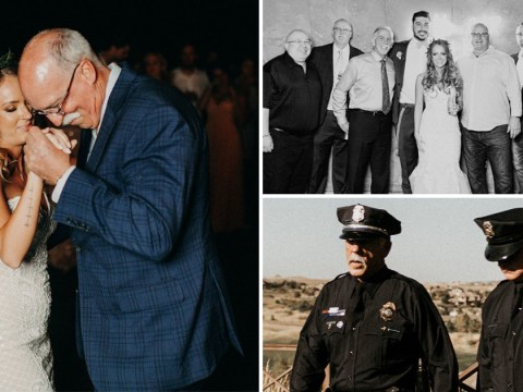 Bride's murdered dad's police colleagues step in to fill his shoes on her wedding day