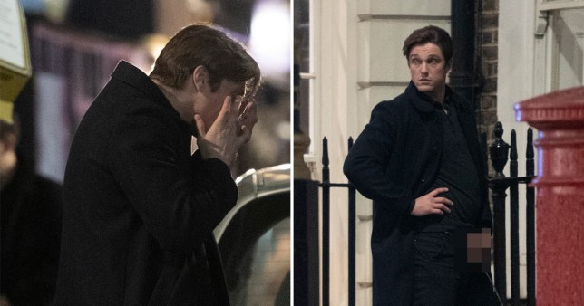 Towie's Lewis Bloor snorts suspicious white powder and urinates on street during night out