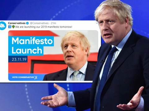 Tories in major blunder as they announce manifesto launch with wrong date