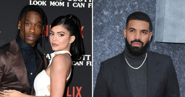 Kylie Jenner and Travis Scott, and Drake
