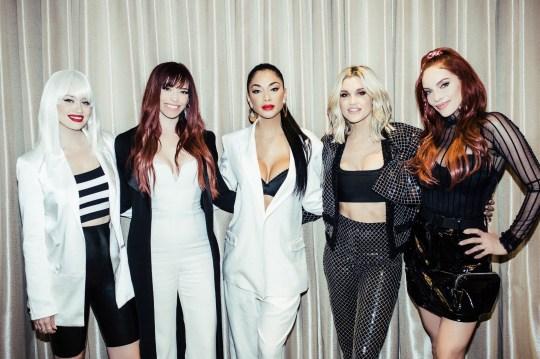 Pussycat Dolls Kimberly Wyatt, Jessica Sutta, Nicole Scherzinger, Ashley Roberts and Carmit Bachar have reunited