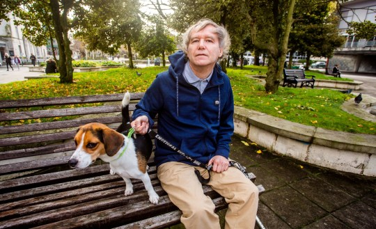 Christopher Palmer outside the Plymouth Crown Court in Devon, with his dog Tammy. 26/11/2019 See SWNS story SWSYevict. A vulnerable man has been hauled to court and faces eviction over his medically prescribed 'emotional support companion dog' - despite doctors demanding he be allowed to keep it. Christopher Palmer, 63, has suffered years of depression, anxiety and mental health problems - leaving him socially isolated with suicidal tendencies. But things changed when Christopher's doctor prescribed him an emotional support and mental wellness animal companion - a beagle called Tammy in December 2018. Despite Christopher's pet being prescribed by a doctor, when Plymouth Community Homes found out, they ordered the dog had to be rehomed.