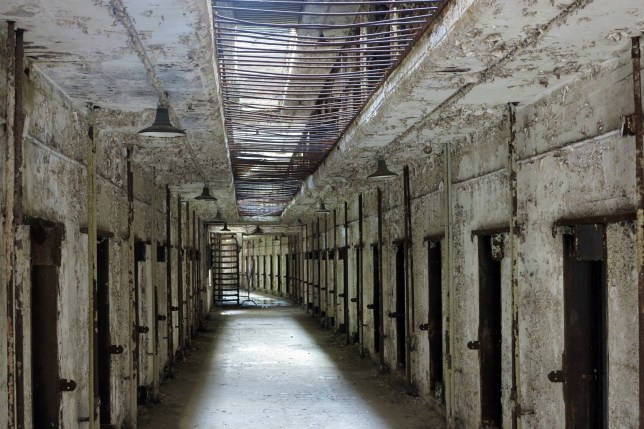 General view of former American prison, Eastern State Penitentiary (ESP), a US National Historic Landmark