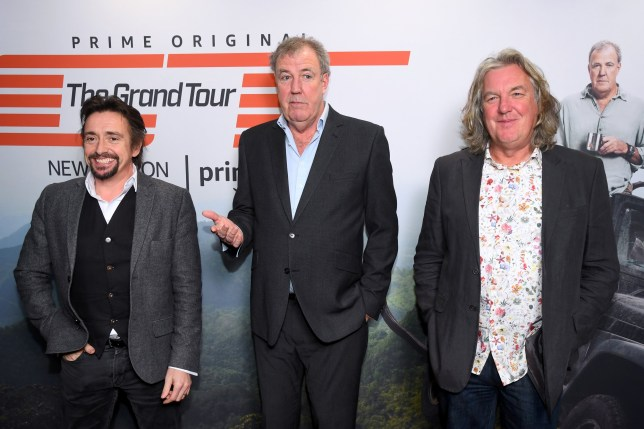 Richard Hammond, Jeremy Clarkson and James May attend a screening of 'The Grand Tour'