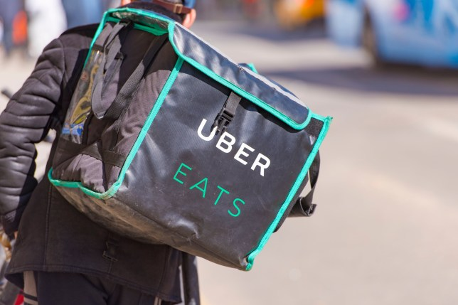 Uber Eats delivery driver