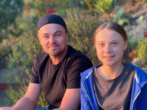 Leonardo DiCaprio finally meets Greta Thunberg and calls her a 'leader of our time'