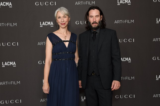 LOS ANGELES, CALIFORNIA - NOVEMBER 02: (L-R) Alexandra Grant and Keanu Reeves attend the 2019 LACMA 2019 Art + Film Gala Presented By Gucci at LACMA on November 02, 2019 in Los Angeles, California. (Photo by Michael Kovac/Getty Images for LACMA)