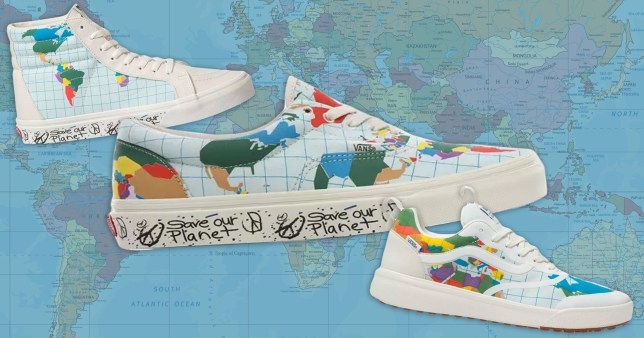 Three Vans from the Save Our Planet collection