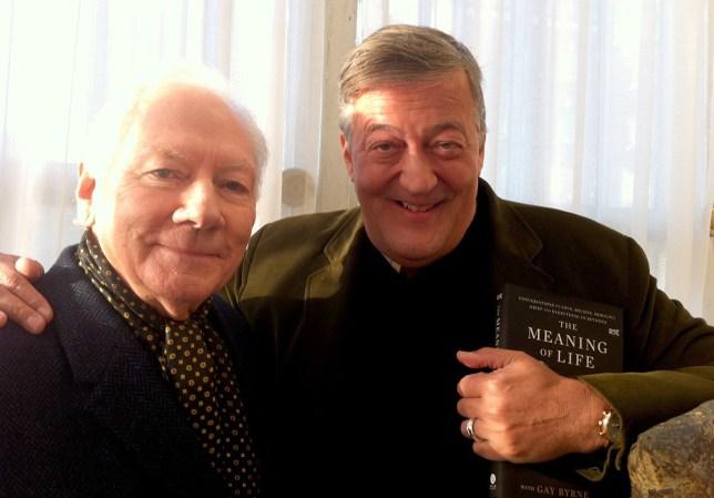 Gay Byrne and Stephen Fry