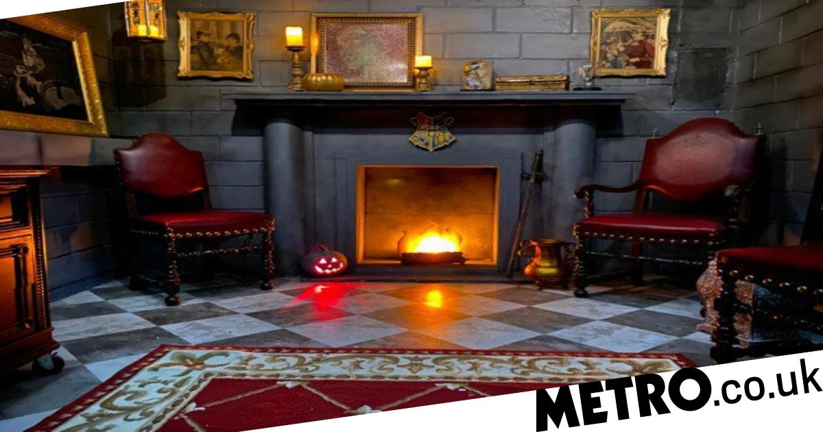 DIY wizard gives his bedroom an incredible Harry Potter themed makeover