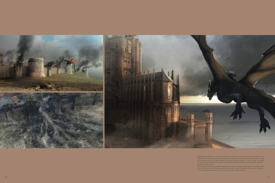 Concept art from The Art of Game of Thrones