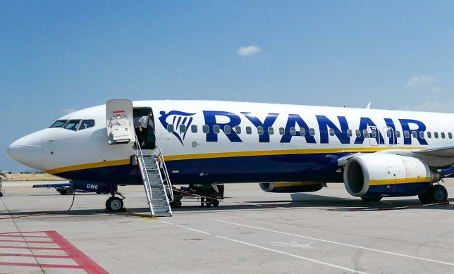 Ryanair Boeing 737-800 airplane as seen in Athens ATH / LGAV Eleftherios Venizelos International Airport AIA in the Greek capital. The aircraft is a Boeing 737-8AS(WL) with 2x CFM56-7 engines and registration EI-DWG. Ryanair FR RYR is an Irish budget airline, the largest low-cost carrier LCC of Europe. (Photo by Nicolas Economou/NurPhoto via Getty Images)