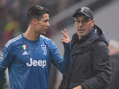 Cristiano Ronaldo upset with Maurizio Sarri after being substituted during Juventus' win over Lokomotiv Moscow