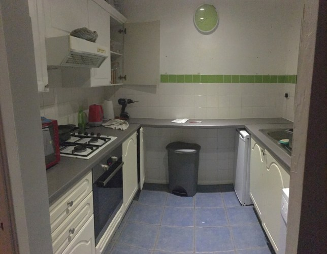 A young couple have managed to create their dream kitchen - for only ?500 thanks to creative hacks. Kirsty Maycock, 31 and boyfriend John Mccall, 30, from Tamworth, Staffs, had a strict budget when it came to redecorating the family kitchen - but the pair were determined to make it look like a professional job.Unable to afford a brand new design, Kirsty became inspired after joining a Facebook group and saw the recent craze of using vinyl for a quick, cheap makeover. SEE CATERS COPY.