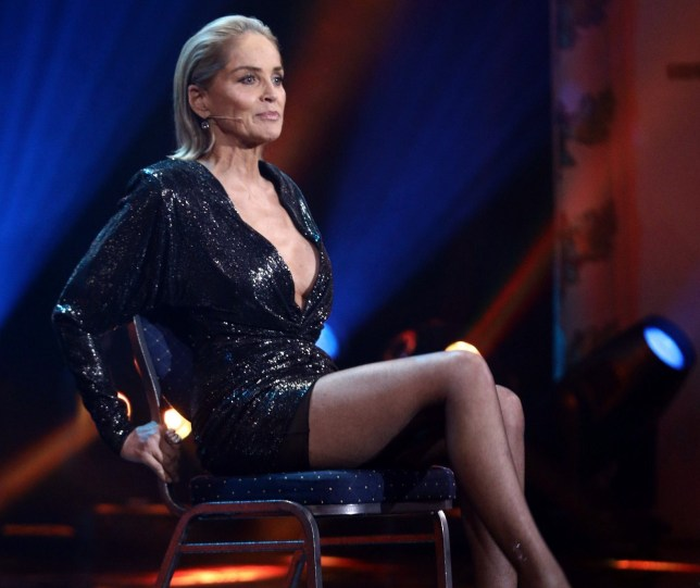 BERLIN, GERMANY - NOVEMBER 07: Award winner Sharon Stone speaks on stage during the GQ Men of the Year Award show at Komische Oper on November 07, 2019 in Berlin, Germany. (Photo by Sebastian Reuter/Getty Images for GQ Germany)